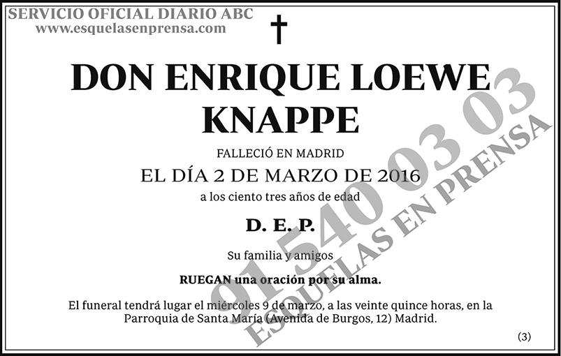 Enrique Loewe Knappe